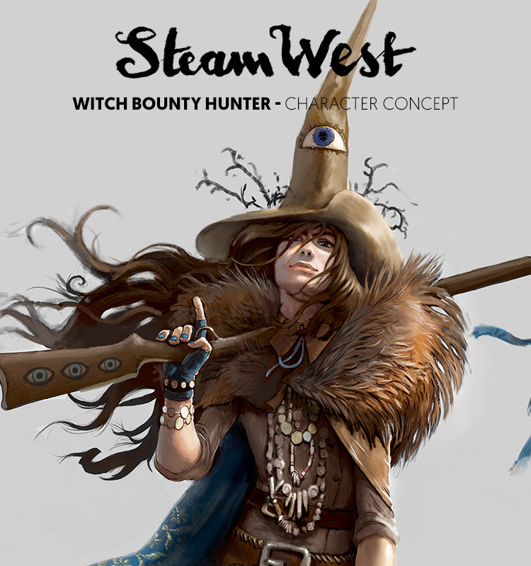 <i>Witch Bounty Hunter</i><span>Character design</span>